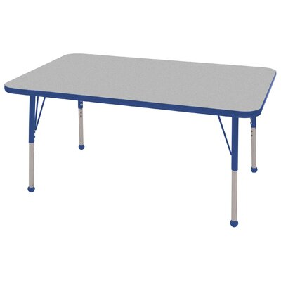 ECR4kids 30&quot; x 48&quot; Rectangular Adjustable Activity Table in Gray