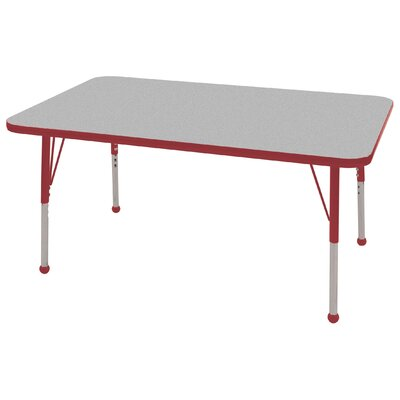 "ECR4kids 30"" x 48"" Rectangular Adjustable Activity Table in Gray"