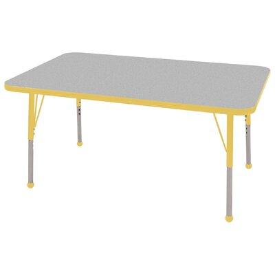 "ECR4kids 30"" x 48"" Rectangular Adjustable Activity Table in Gray"