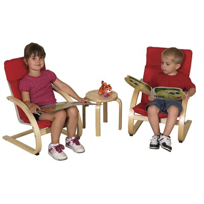 ECR4kids Kids 3 Piece Table and Chair Set