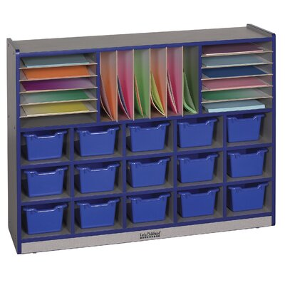 ECR4kids Multi Section Laminate Storage Unit 31 Compartment Cubby