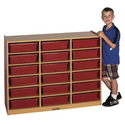 ECR4kids Colorful Essentials™ Multi-Purpose Cabinet - 18 Compartment