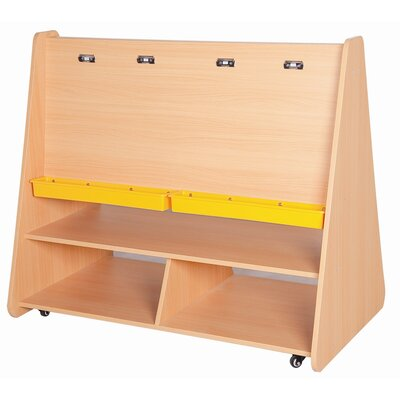 ECR4kids Large Two-Sided Easel with Storage