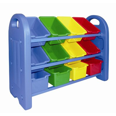 ECR4kids 3 Tier Toy Organizer with 12 Bins