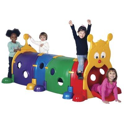 "ECR4kids ""Gus"" Four Section Climb-n-Crawl Caterpillar Tunnel Playground"