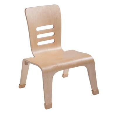 "ECR4kids 12"" Birch Low and Wide Bentwood Classroom Chair in Natural"
