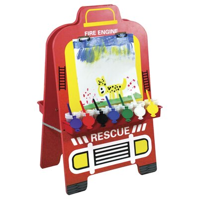 ECR4kids Fire Engine Easel