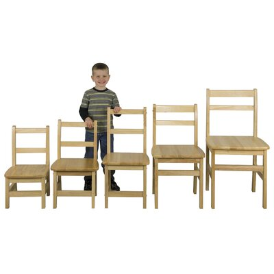 "ECR4kids 14"" Hardwood Classroom Ladderback Chair"