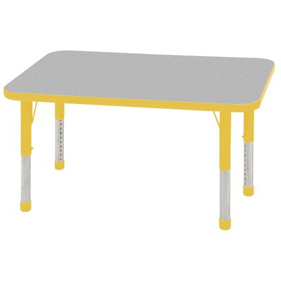 "ECR4kids 24"" x 48"" Rectangular Adjustable Activity Table in Gray"