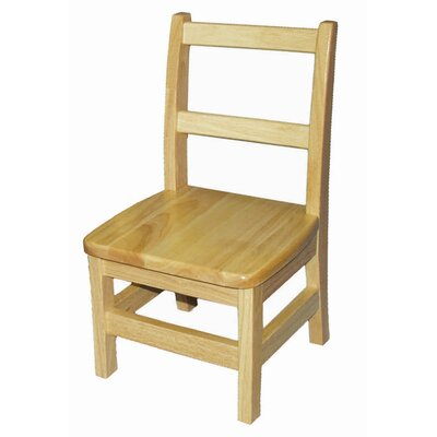 ECR4kids 18&quot; Hardwood Classroom Ladderback Chair