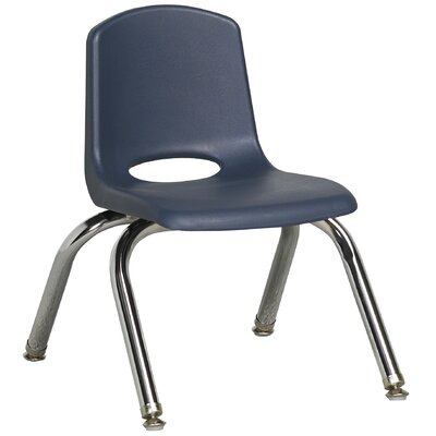 "ECR4kids 10"" Plastic Stack Chair with Chrome Legs"