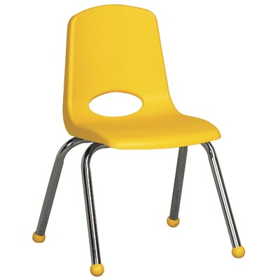 "ECR4kids 14"" Plastic Stack Chair with Chrome Legs"