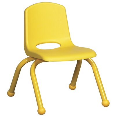 "ECR4kids 10"" Plastic Stack Chair with Matching Painted Legs"