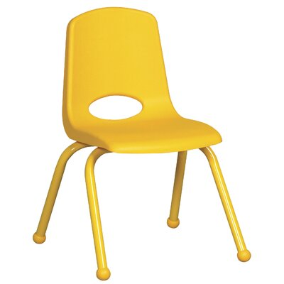 "ECR4kids 14"" Plastic Stack Chair with Matching Painted Legs"