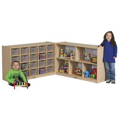 ECR4kids Medium Laminate Storage Cabinet 25 Compartment Cubby