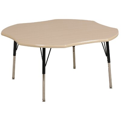 "ECR4kids 48"" Clover Shaped Adjustable Activity Table in Maple"