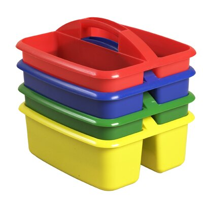ECR4kids Two Compartment Large Plastic Art Caddy