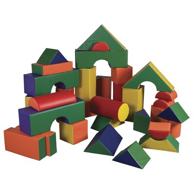 ECR4kids 35 Pieces Jumbo Soft Blocks