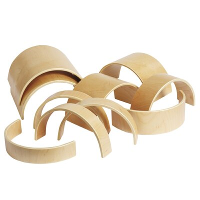 ECR4kids 10 Pieces Wooden Tunnels and Arches