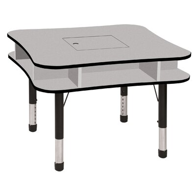 "ECR4kids 36"" Media Center Table in Gray"