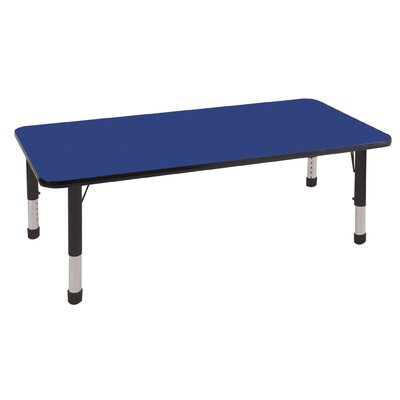 "ECR4kids 30"" x 60"" Rectangular Adjustable Activity Table"