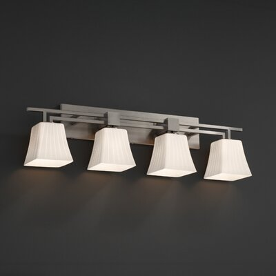 Justice Design Group Aero Fusion 4 Light Bath Vanity Light