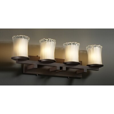 Justice Design Group Veneto Luce Dakota 4 Light Bath Vanity Light