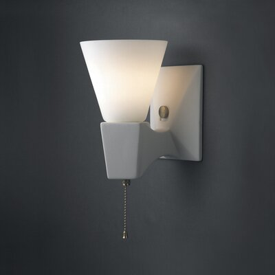 Justice Design Group Euro Classics Geo Single-Arm 1 Light Wall Sconce