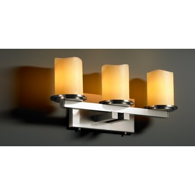 Justice Design Group CandleAria Dakota 3 Light Bath Vanity Light