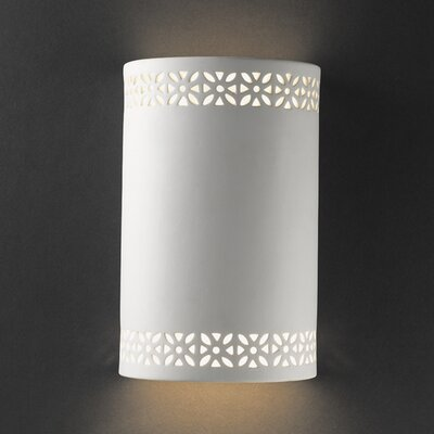 Justice Design Group Ambiance Floral Band 1 Light Outdoor Wall Sconce