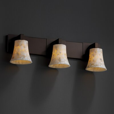 Justice Design Group Modular Alabaster Rocks 3 Light Bath Vanity Light