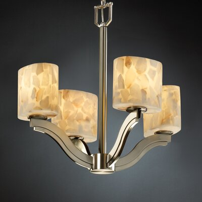 Bend Alabaster Rocks 4 Light Chandelier