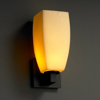 Justice Design Group Modular CandleAria 1 Light Wall Sconce