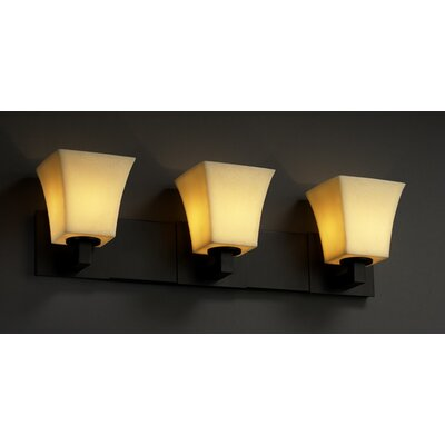 Justice Design Group Modular CandleAria 3 Light Bath Vanity Light