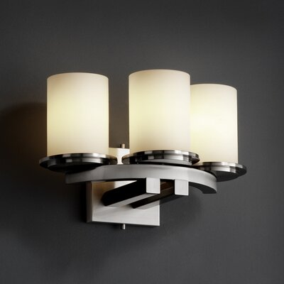 Justice Design Group Fusion Dakota Curved-Bar 3 Light Wall Sconce