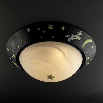 Justice Design Group Kid's Room 3 Light Flush Mount