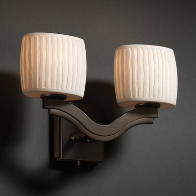 Justice Design Group Bend Limoges 2 Light Wall Sconce