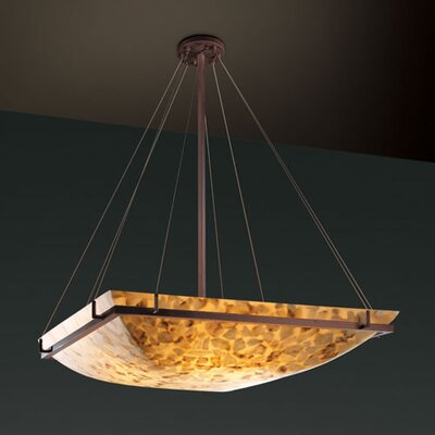 Justice Design Group Alabaster Rocks 8 Light Inverted Pendant
