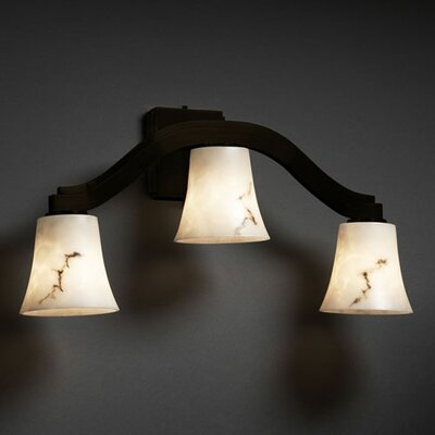 Justice Design Group LumenAria Bend 3 Light Wall Sconce