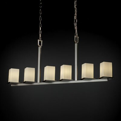 Justice Design Group Fusion Montana 6 Light Chandelier