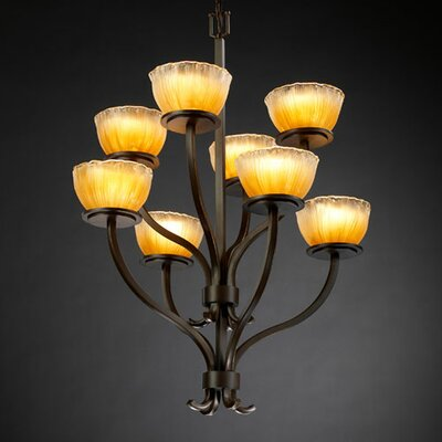 Justice Design Group Veneto Luce Sonoma 8 Light Chandelier
