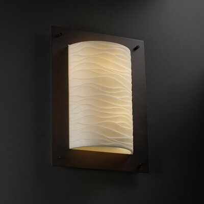 Justice Design Group Porcelina Framed ADA 2 Light Wall Sconce