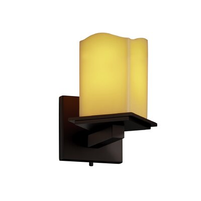 Justice Design Group Montana CandleAria Angled Bobeche 1 Light Wall Sconce