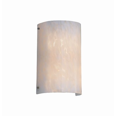 Justice Design Group Finials Fusion Curved 2 Light Wall Sconce