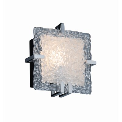 Justice Design Group Clips Veneto Luce Square 1 Light Wall Sconce