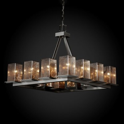 Justice Design Group Fusion Montana 12 Light Ring Short Chandelier