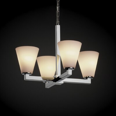 Justice Design Group Fusion Modular 4 Light Chandelier