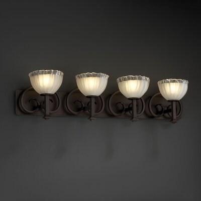 Justice Design Group Heritage 4 Light  Bath Vanity Light