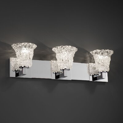 Justice Design Group Veneto Luce Modular 3 Light Bath Vanity Light