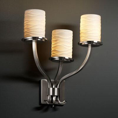 Justice Design Group Limoges Sonoma 3 Light Wall Sconce